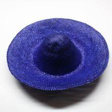 Large Vintage Cobalt Blue Wheatstraw Milliner's Capeline